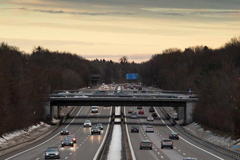 Estrada Autobahn em Berlim