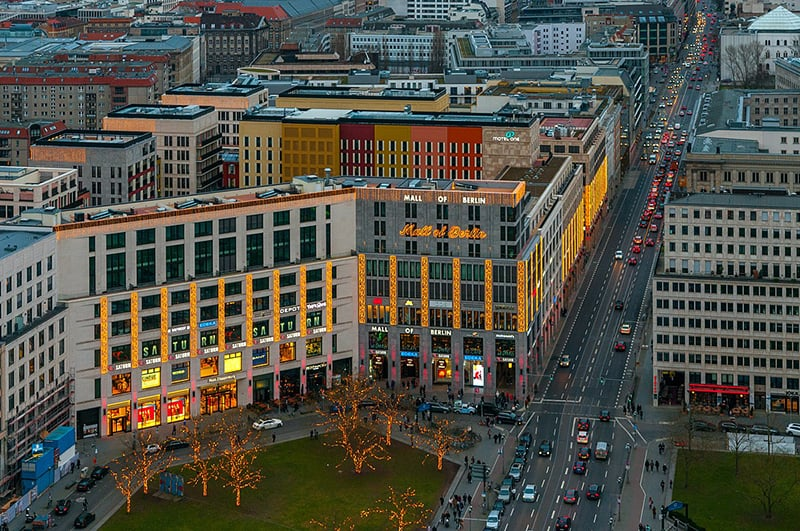 Compras no shopping Mall of Berlin