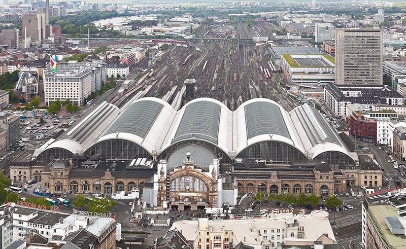 Estação de trem Hauptbahnhof em Berlim