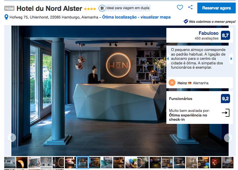 Hotel du Nord Alster em Hamburgo