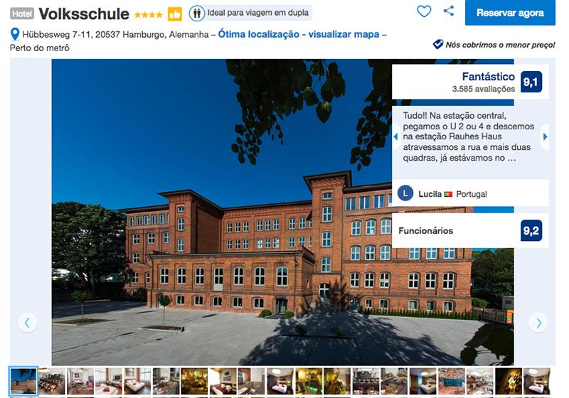 Hotel Volksschule em Hamburgo