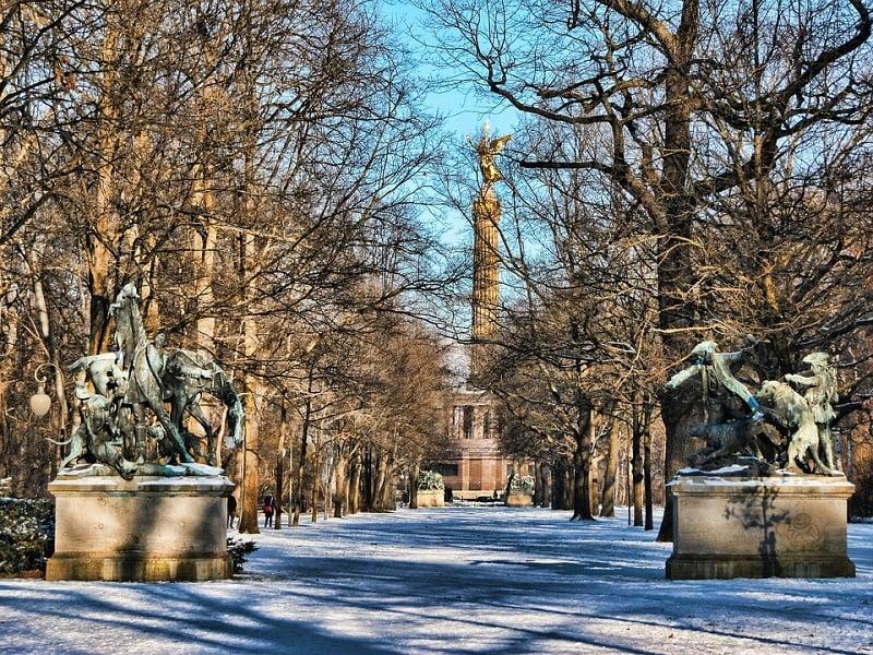 Passeios ao ar livre no inverno de Berlim