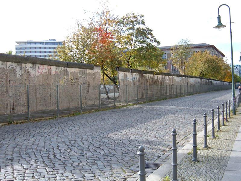 Rua Niederkirchnerstrasse em Berlim