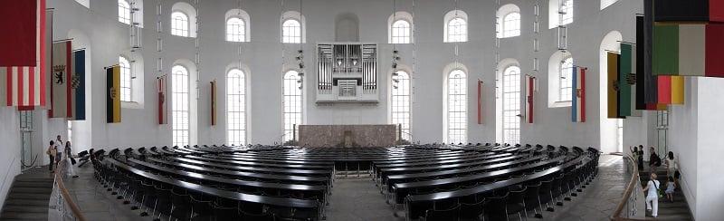 Interior da Paulskirche em Frankfurt