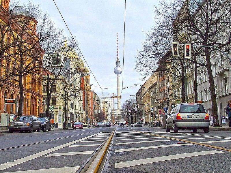 Oranienburger Strasse em Berlim