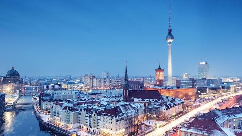 Inverno na cidade de Berlim