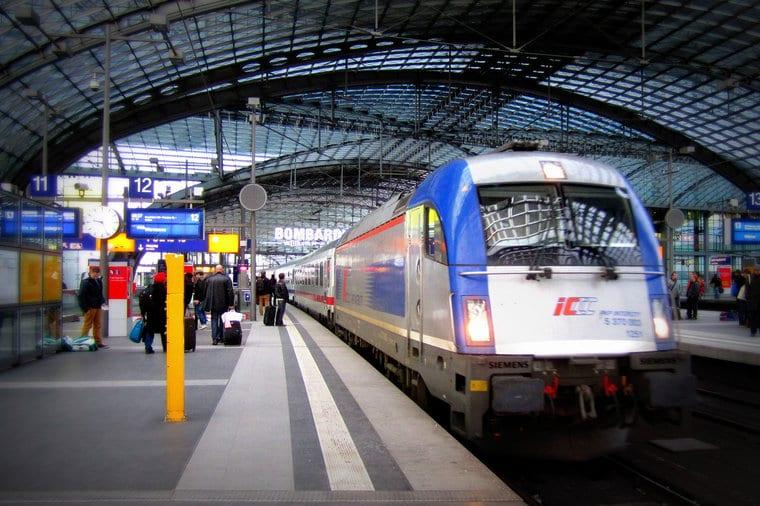 Estação de trens na Alemanha