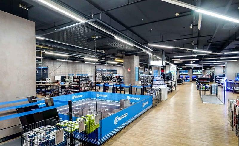 Estrutura da loja Conrad Electronic em Berlim