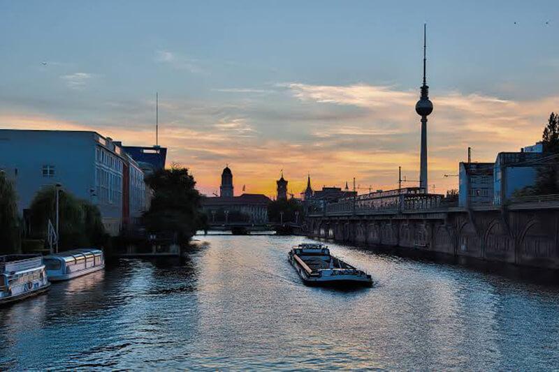 Anoitecer em Berlim
