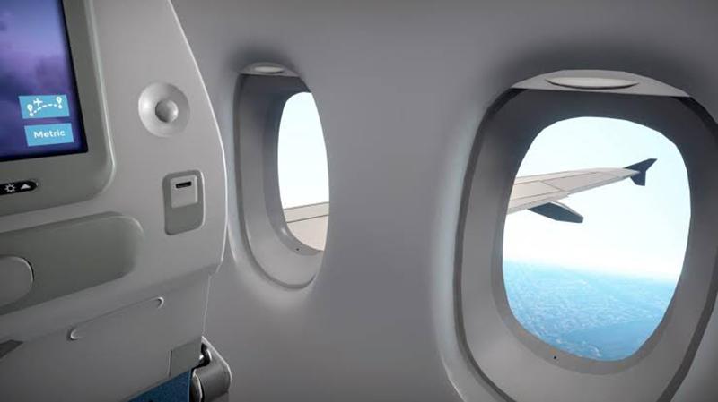 Vista do avião na Alemanha