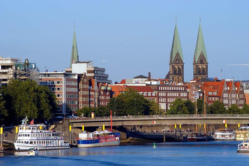 Cidade de Bremen na Alemanha
