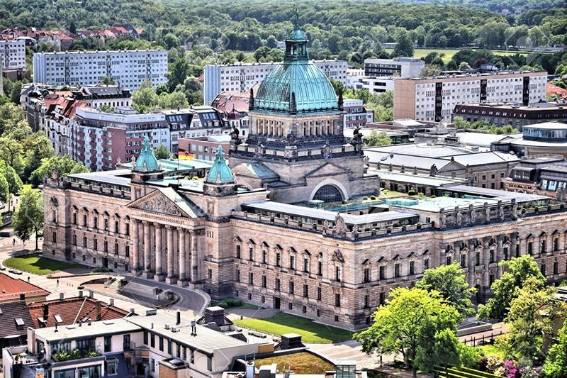 Cidade de Leipzig na Alemanha