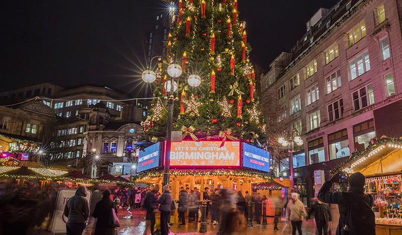 Base da Árvore de Natal em Frankfurt
