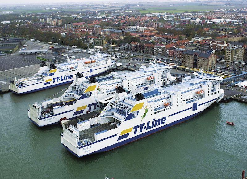 Ferry boat TT-Line na Alemanha