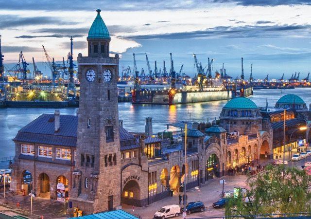 Vista do Porto de Hamburgo